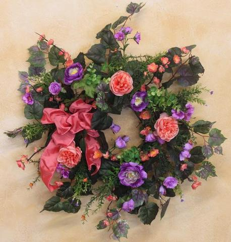 Gallery SPW104 - April's Garden Wreath