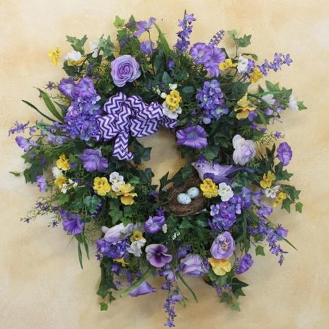 Gallery SPW35 - April's Garden Wreath