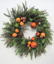 Transitional Winter Wreath with Clove Oranges, Lemons and Pine Cones/Trans 10 - April's Garden Wreath