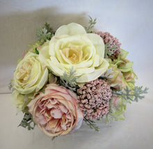 Cream and Pink Silk Floral Bridal Bouquet/BB04 - April's Garden Wreath