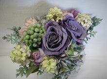 Lavender and Cream Silk Floral Bridal Bouquet/BB06 - April's Garden Wreath