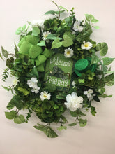 Green and White St Patrick's Day Front Door Wreath with Green Glitter Hat/Eng10 - April's Garden Wreath