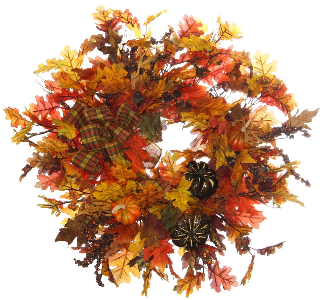 Fall Harvest Wreath/HARV42 - April's Garden