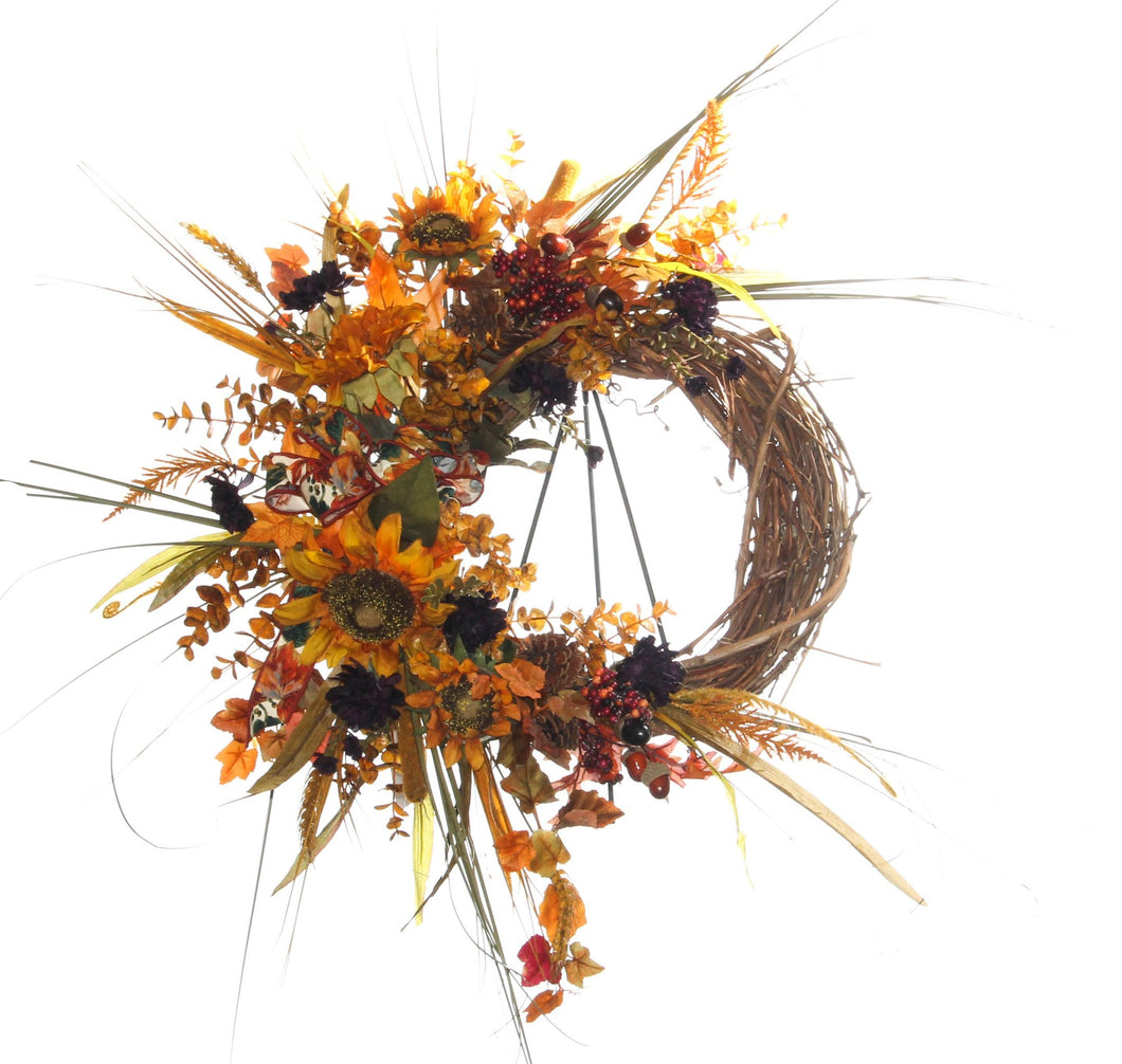 Fall Harvest Wreath/HARV46 - April's Garden Wreath
