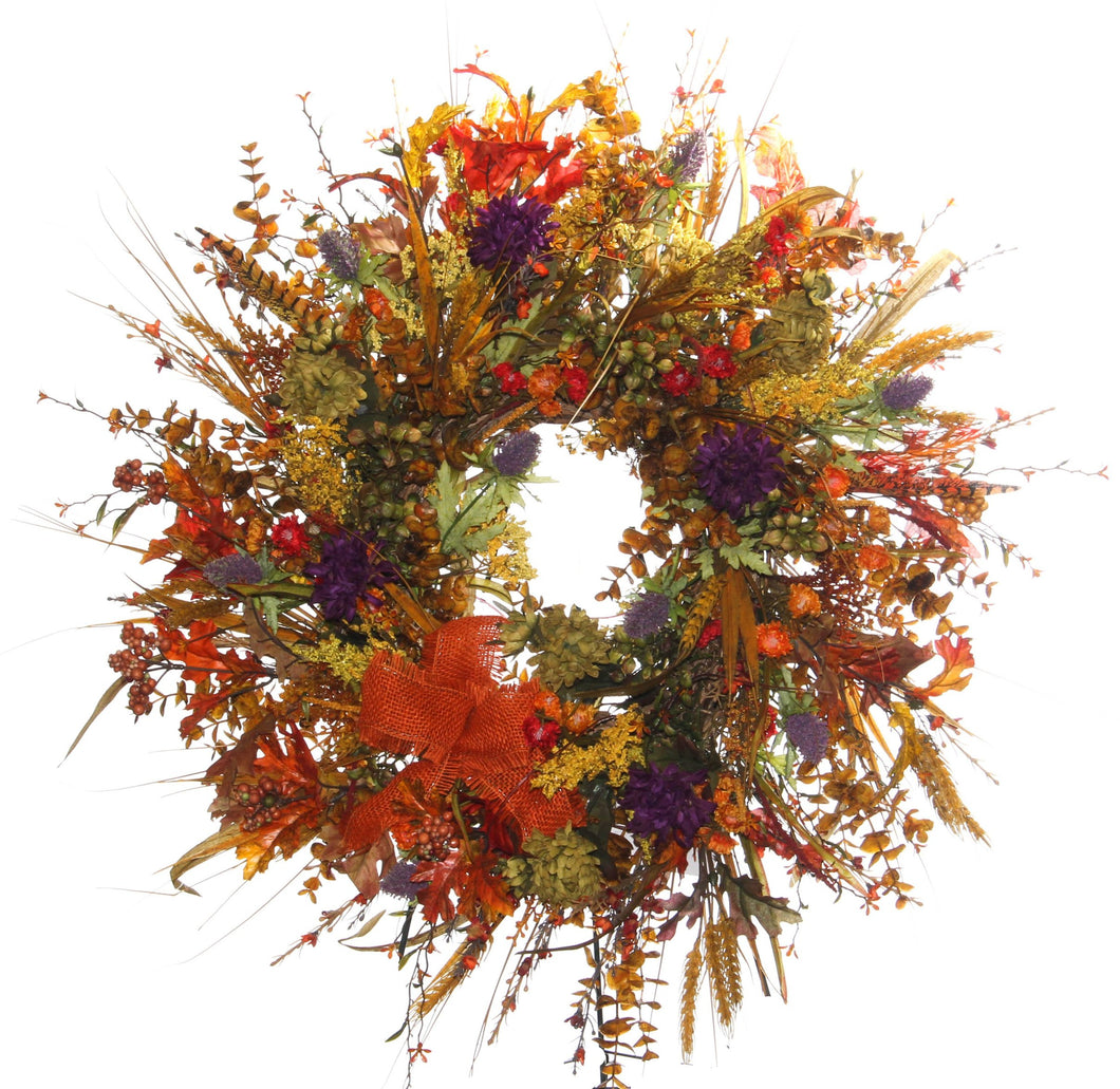 Fall Harvest Wreath/HARV12 - April's Garden Wreath