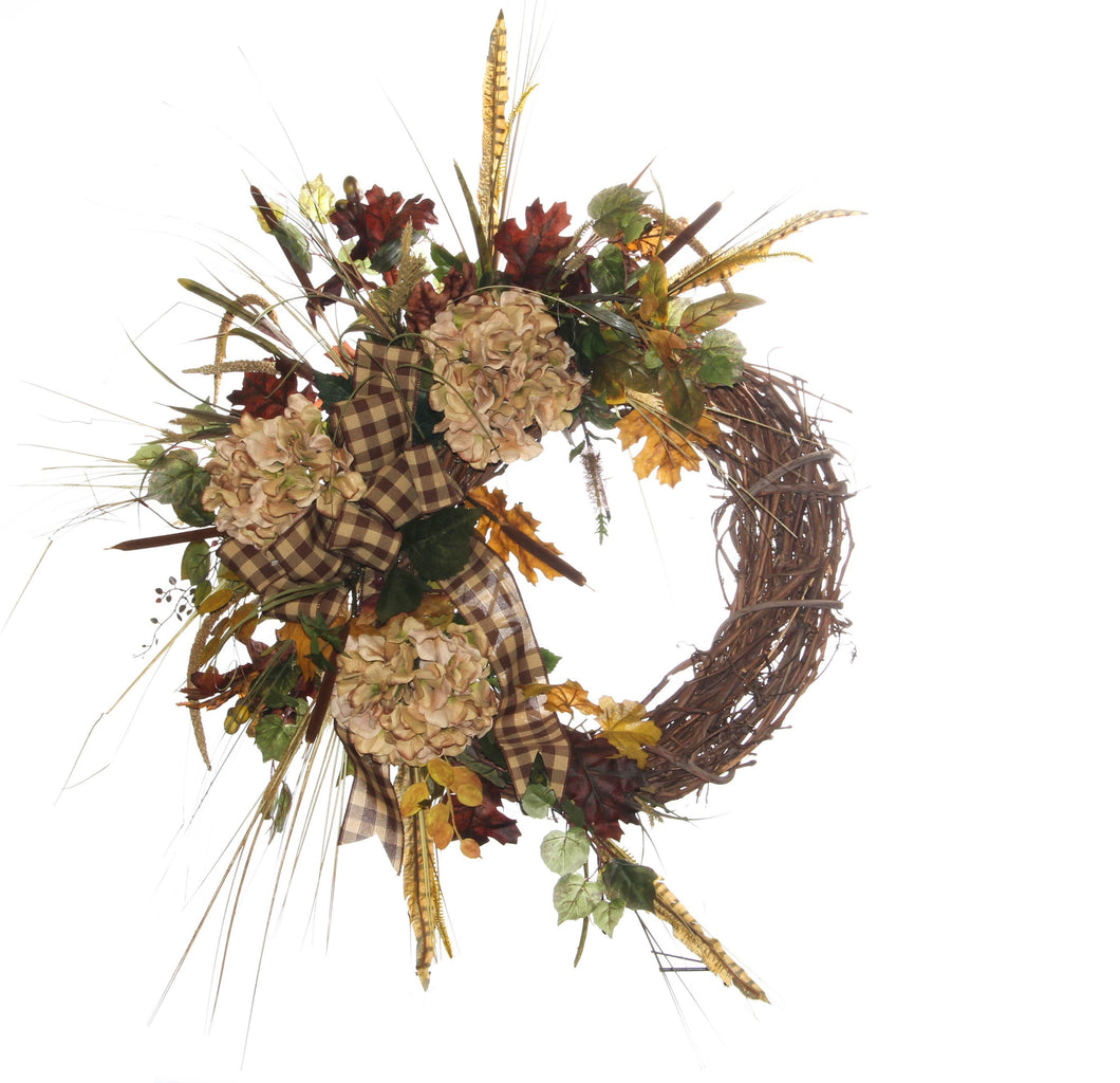 Crescent Fall Harvest Wreath/HARV25 - April's Garden Wreath