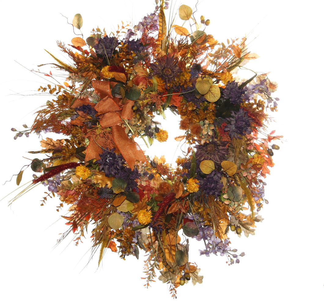 Fall Harvest Wreath/HARV28 - April's Garden Wreath