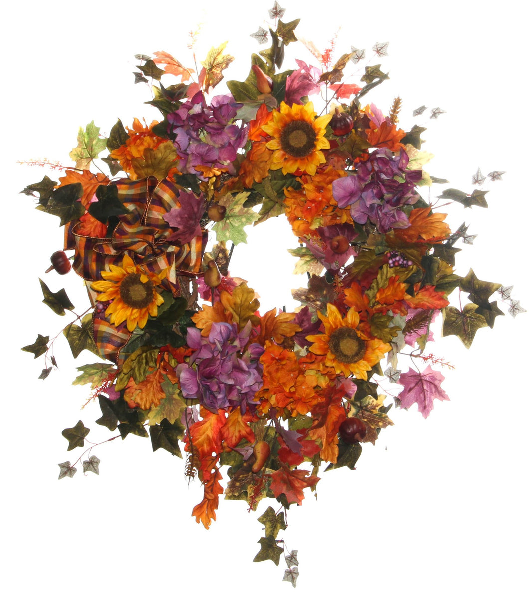 Fall Harvest Wreath/HARV06 - April's Garden Wreath