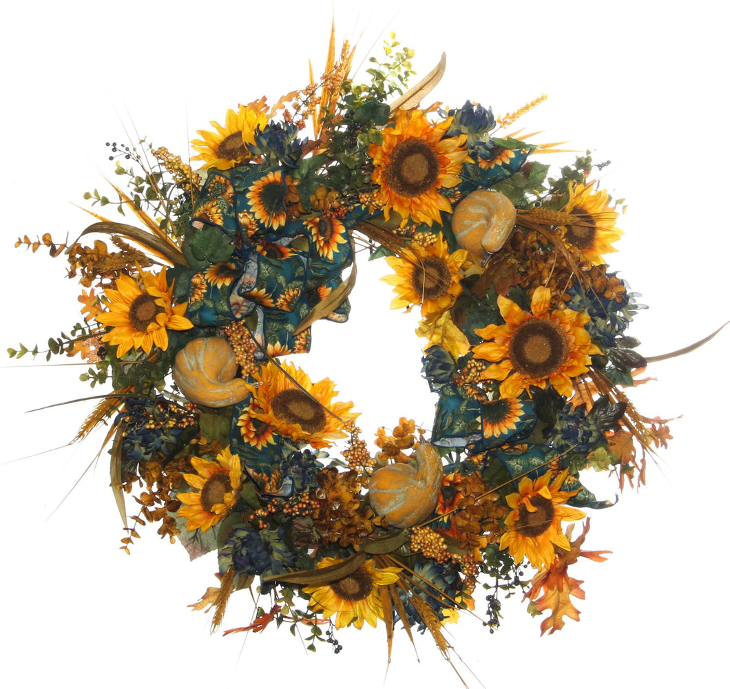 Fall Harvest Wreath/HARV32 - April's Garden Wreath