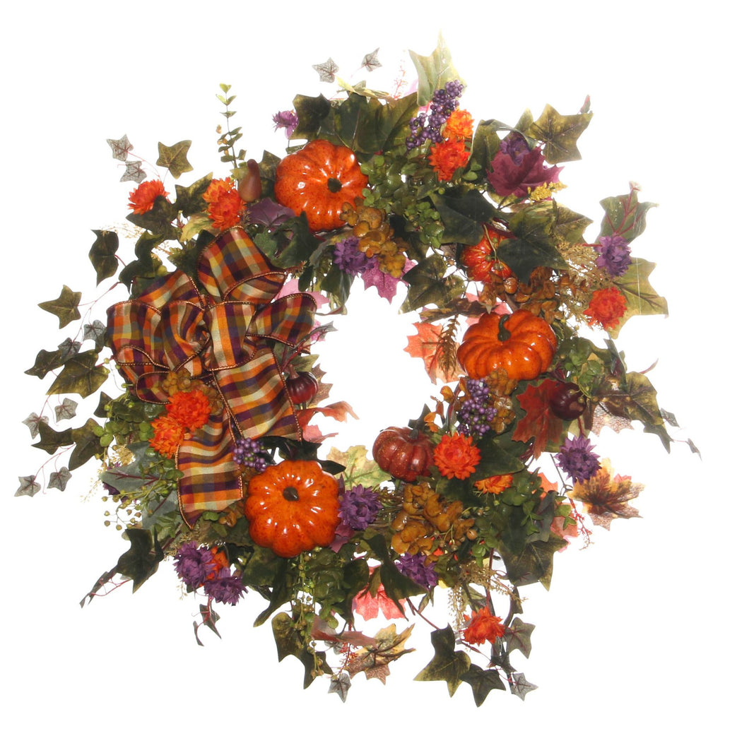 Fall Harvest Wreath/HARV44 - April's Garden