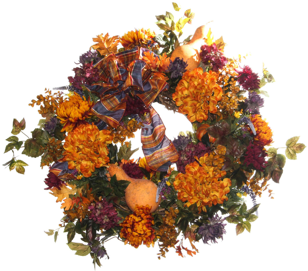 Fall Harvest Wreath/HARV47 - April's Garden