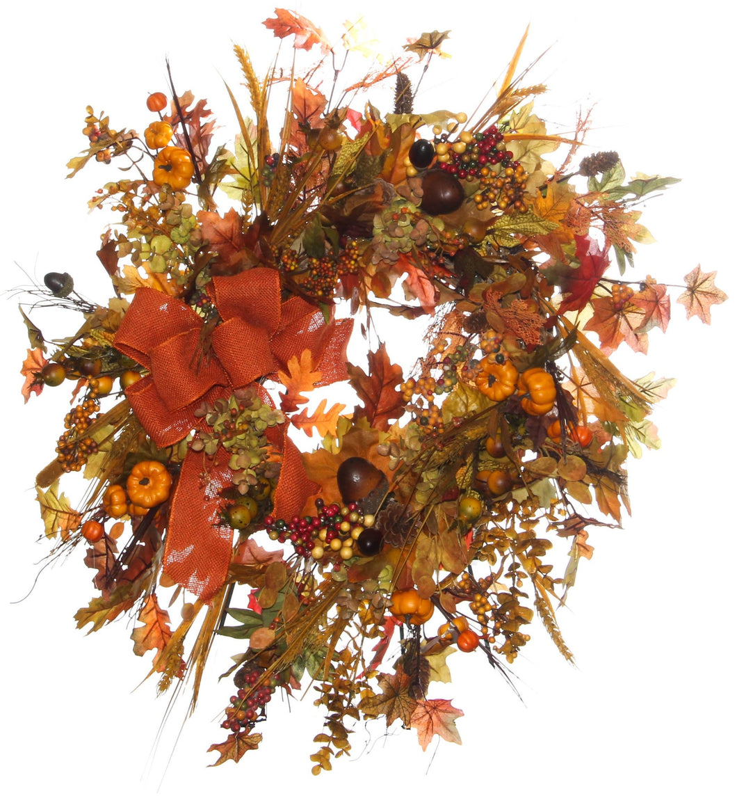 Fall Harvest Wreath/HARV45 - April's Garden