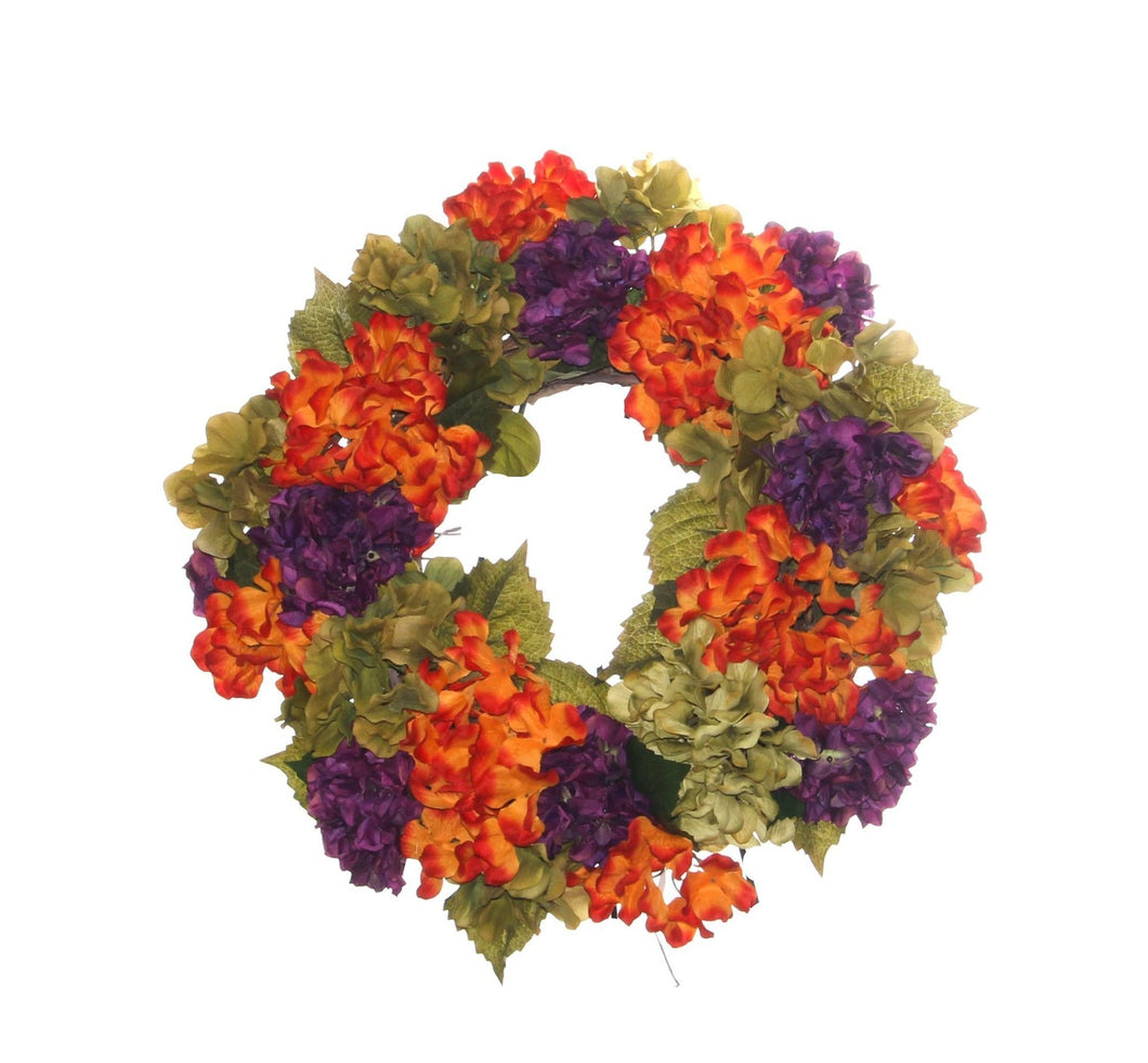 Fall Harvest Hydrangea Wreath/HARV09 - April's Garden Wreath