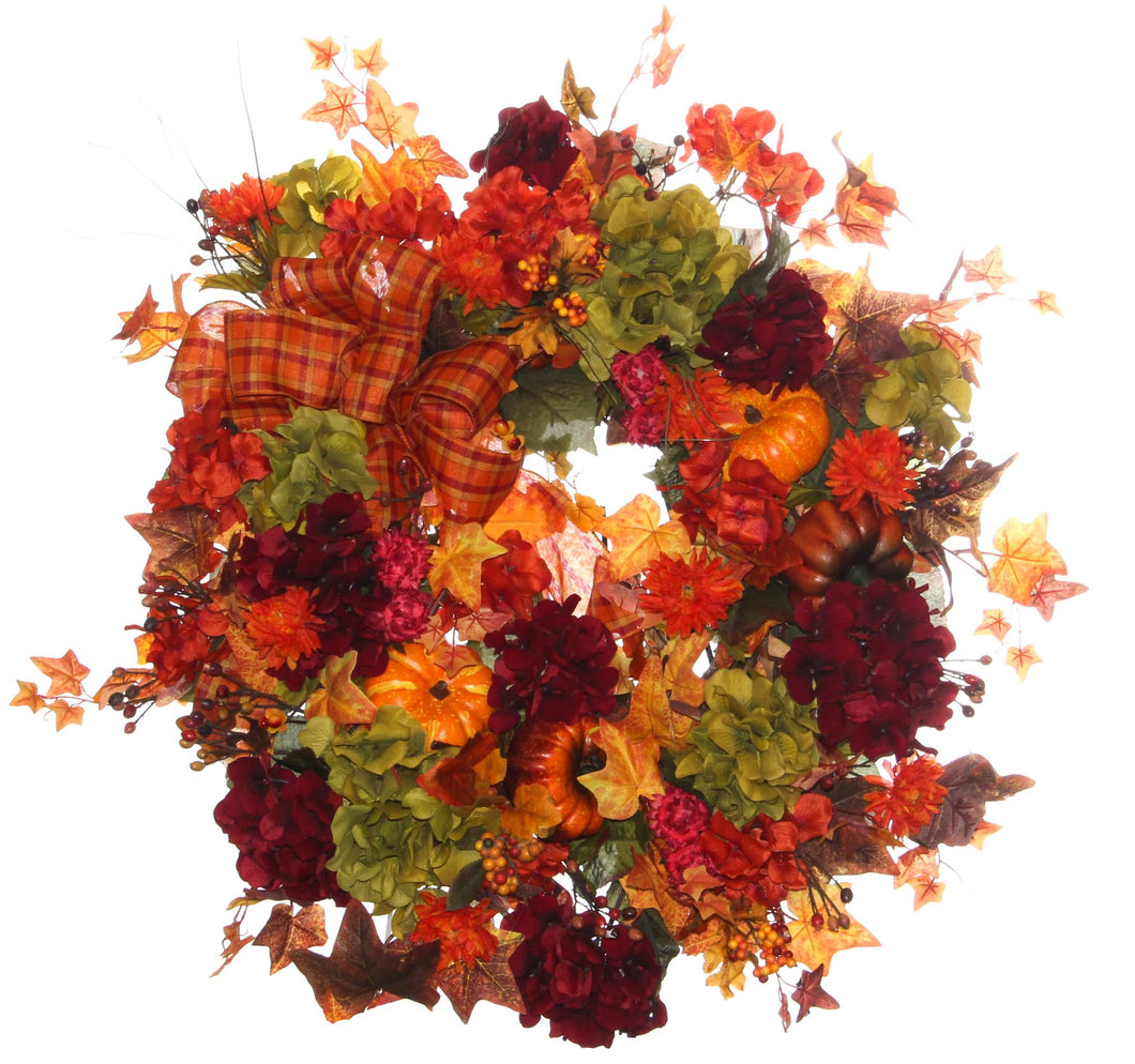 Fall Harvest Wreath/HARV34 - April's Garden Wreath