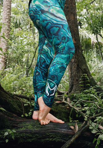 Abalone Obsessed Leggings 'Green'