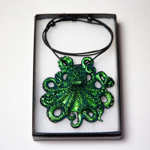 Octopus Pendant Necklace- Seadragon Colorshift