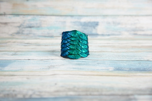 "Silicone Scale Cuff ""Sea Dragon"""