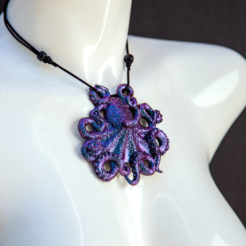 Octopus Pendant Necklace- Galaxsea Colorshift
