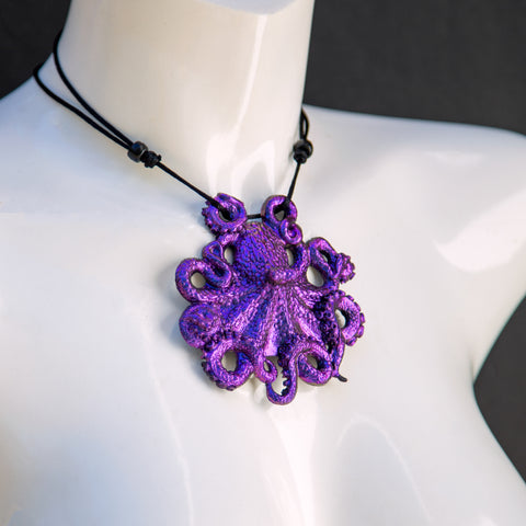 Octopus Pendant Necklace- Nebula Colorshift