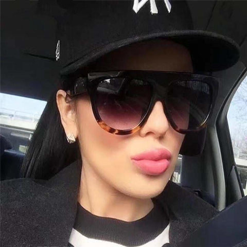 Ada Luxury Vintage Sunglasses Big Full Frame Eyewear Women Glasses