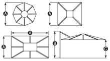 Shelta Asta Centrepost Umbrella Diagrams