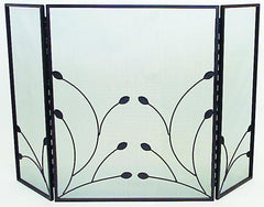 FireUp Three Fold Fire Screen with Leaf Design, Heater Accessories, S&D Berg