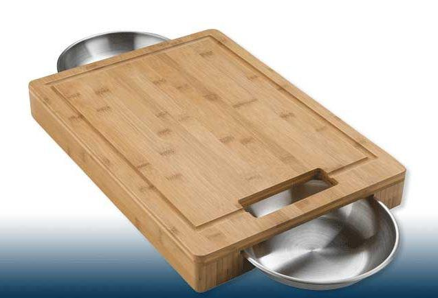 Napoleon PRO Cutting Board with SS Bowls - Joe's BBQs