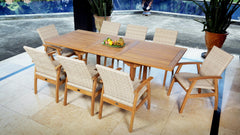 East India Kingston Extension 9 Piece Dining Setting, Furniture, East India Trading