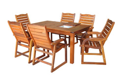 Kwila 7 Piece Entertainer Dining Setting, Furniture, Swifts