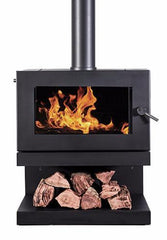 Blaze 600 Wood Heater with Cantilever Base, Heater, Pecan Engineering