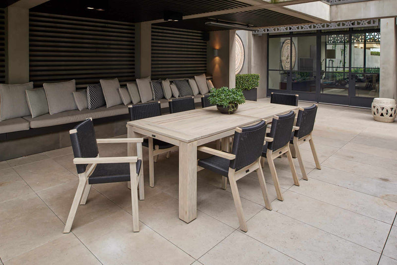 Melton Craft 9 Piece Bairo Teak Grey Setting