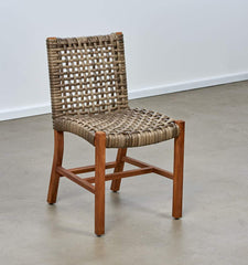 Melton Craft Bairo Teak and Wicker Side Chair, Furniture, Melton Craft