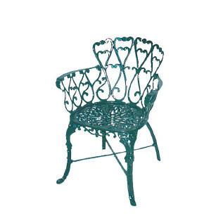 Melton Craft Cast Aluminium Scroll Chair, Furniture, Melton Craft
