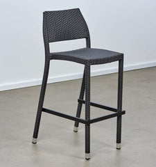 Melton Craft Ceres Black Wicker Bar Stool
