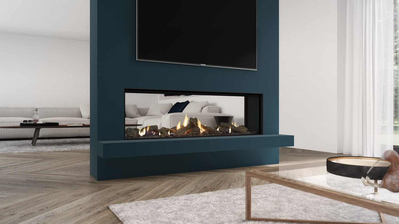 Escea DS1400 Double Sided Gas Fireplace, Heater, Glen Dimplex