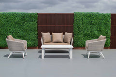 Tucker Tiki 4 Piece Lounge Setting with 2 Seater Lounge