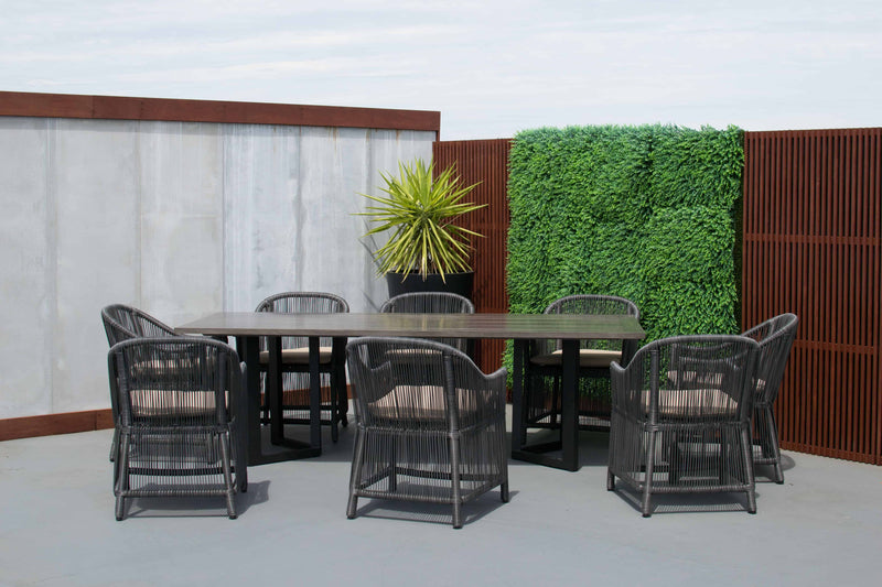 Tucker Karma 9pc Dining Setting - Dalton Table Slate Grey, Furniture, Tucker from the original BBQ Factory