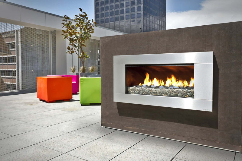 Escea EF5000 Outdoor Gas Fireplace, Heater, Glen Dimplex