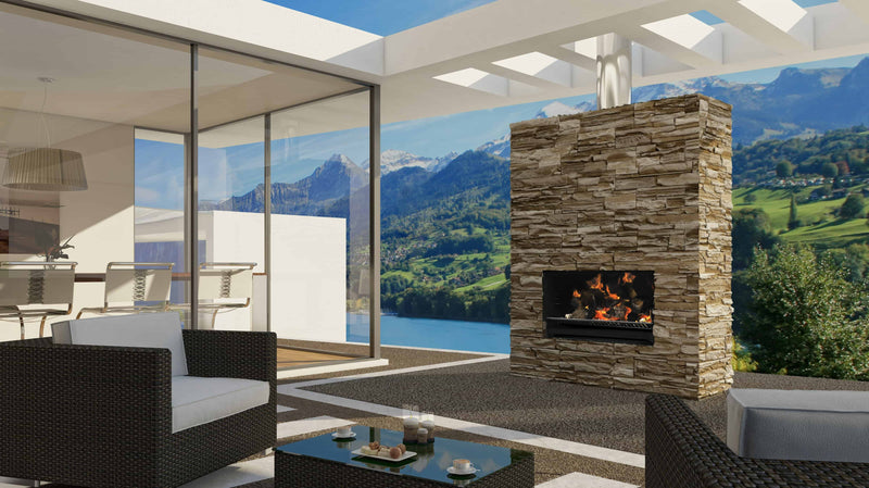 Escea EW5000 Outdoor Wood Fire, Heater, Glen Dimplex