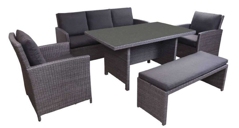 GLG Jardine 5 Piece Low Dining Setting, Furniture, Good Living Global