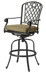 Melton Craft Whitehorse Swivel Bar Stool with Cushion, Furniture, Melton Craft