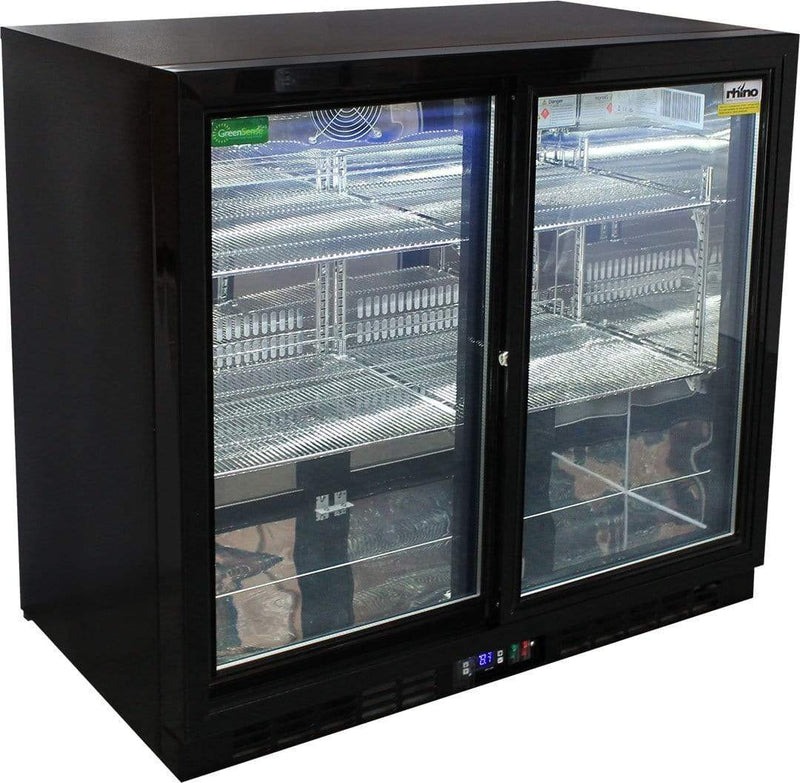 Rhino Black 2 Door Bar Fridge, , Rhino