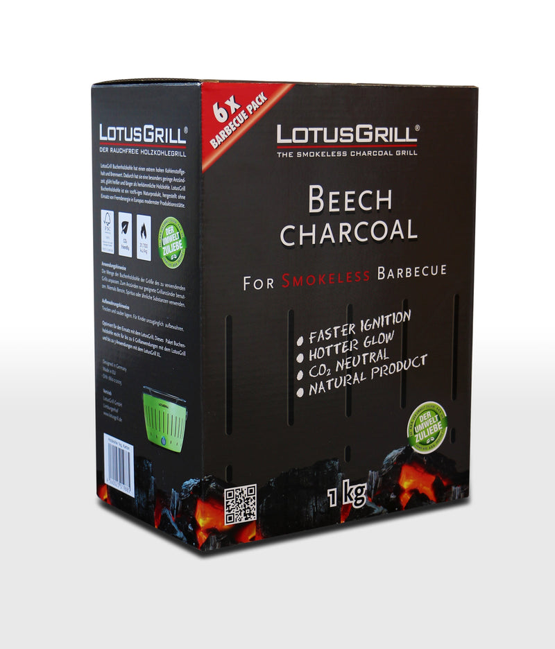 1kg Beech Lump Charcoal, BBQ Accessories, LotusGrill