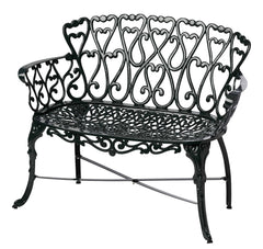 Melton Craft Cast Aluminium Scroll Loveseat, Furniture, Melton Craft