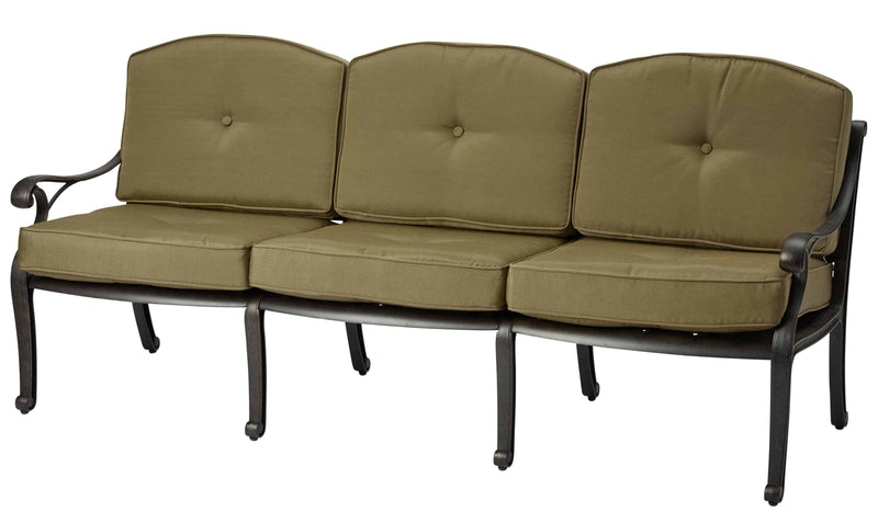 Melton Craft Nassau Three Seat Lounge with Cushion, Furniture, Melton Craft