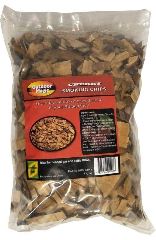 Outdoor Magic Cherry 1kg Smoking Chips, BBQ Accessory, S&D Berg