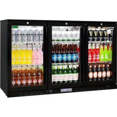 Rhino Commercial Glass 3 Door Bar Fridge, , Rhino
