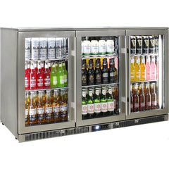 Rhino Outdoor ENVY 3 Door 316 SS Bar Fridge, , Rhino
