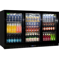 Rhino Commercial Glass 3 Door Bar Fridge with LG Compressor, , Rhino