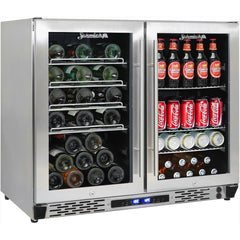 Schmick Twin Zone Alfresco Beer And Wine Bar Fridge, , Schmick